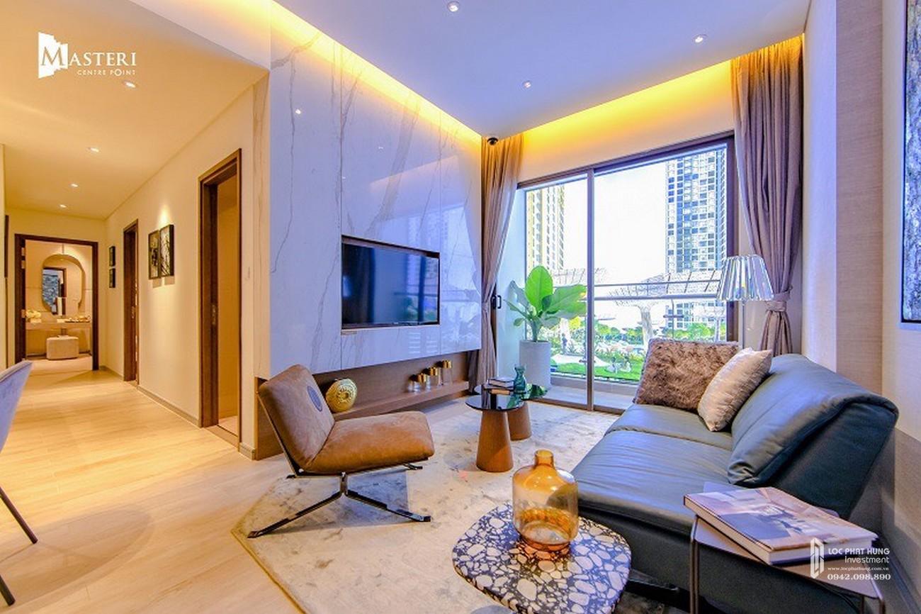 Nhà mẫu phòng khách dự án căn hộ chung cư Masteri Centre Point Quận 9 Đường Nguyễn Xiển chủ đầu tư Masterise Homes