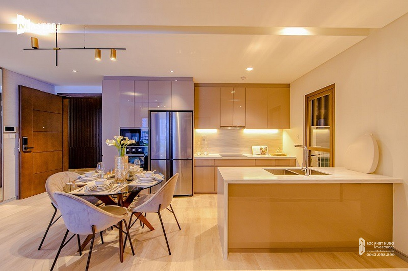 Nhà mẫu phòng ăn dự án căn hộ chung cư Masteri Centre Point Quận 9 Đường Nguyễn Xiển chủ đầu tư Masterise Homes