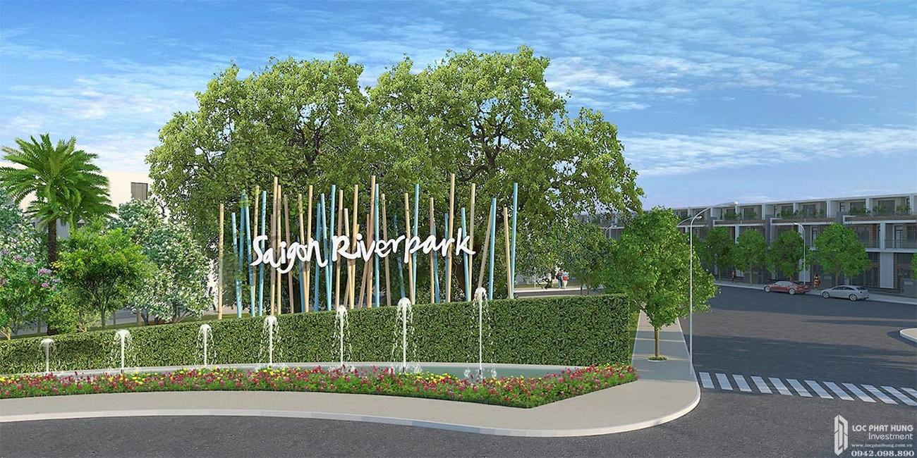 Cổng chào dự án đất nền Saigon Riverpark Cần Giuộc Đường Quốc lộ 50 chủ đầu tư Tân Phú Thịnh