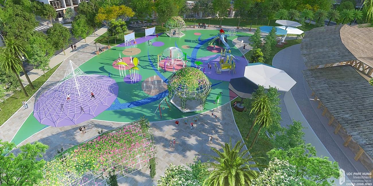 Công viên thiếu nhi dự án đất nền Saigon Riverpark Cần Giuộc Đường Quốc lộ 50 chủ đầu tư Tân Phú Thịnh
