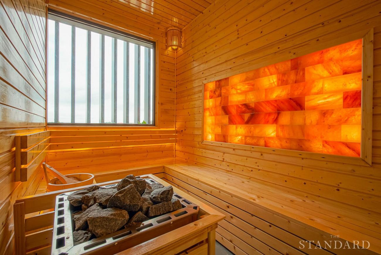 Hình ảnh thực tếtiện ích phòng xông hơi Sauna dự án nhà phố The Standar Central Park Tân Uyên Bình Dương
