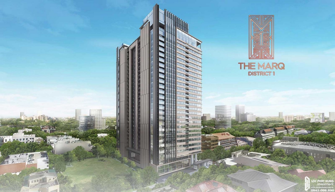 Phối cảnh dự án căn hộ chung cư The Marq Quận 1 Đường Nguyễn Đình Chiểu chủ đầu tư HongKong Land & Hoa Lâm