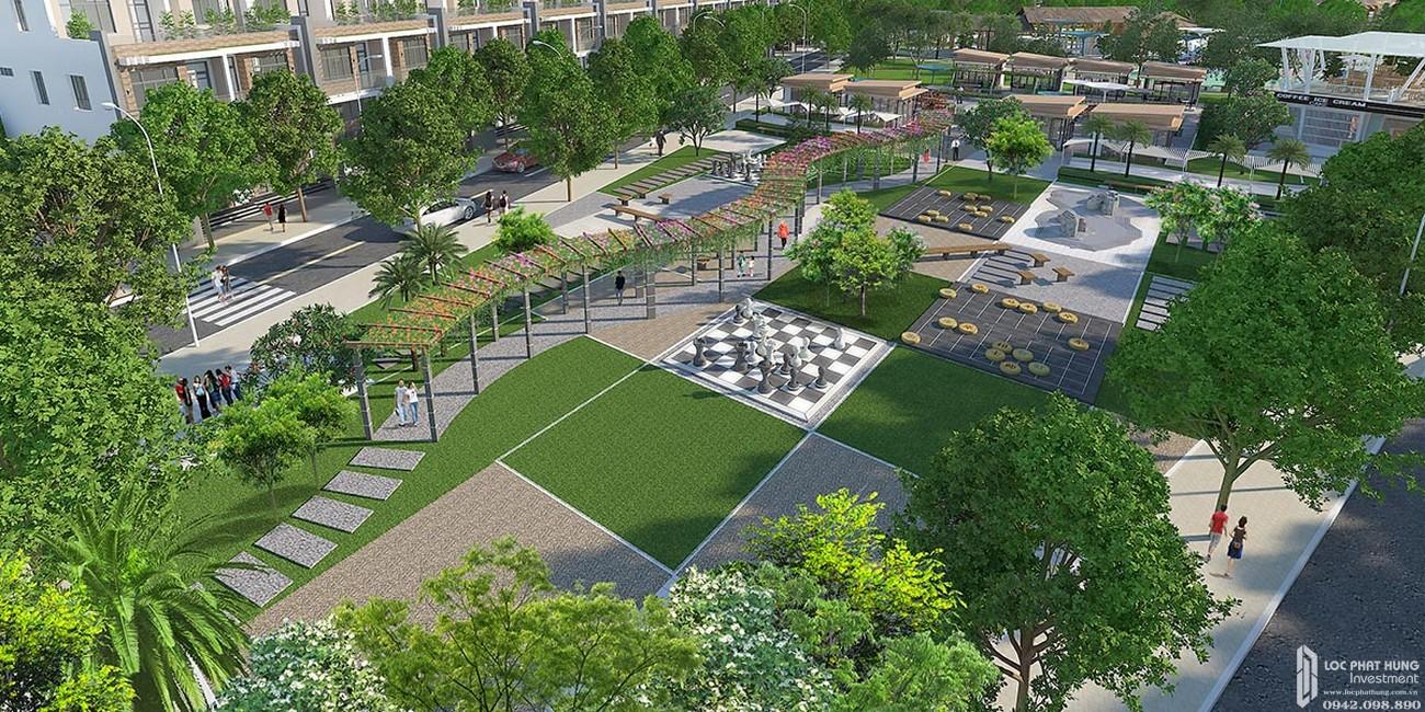 Khu dạo bộ - ẩm thực dự án đất nền Saigon Riverpark Cần Giuộc Đường Quốc lộ 50 chủ đầu tư Tân Phú Thịnh