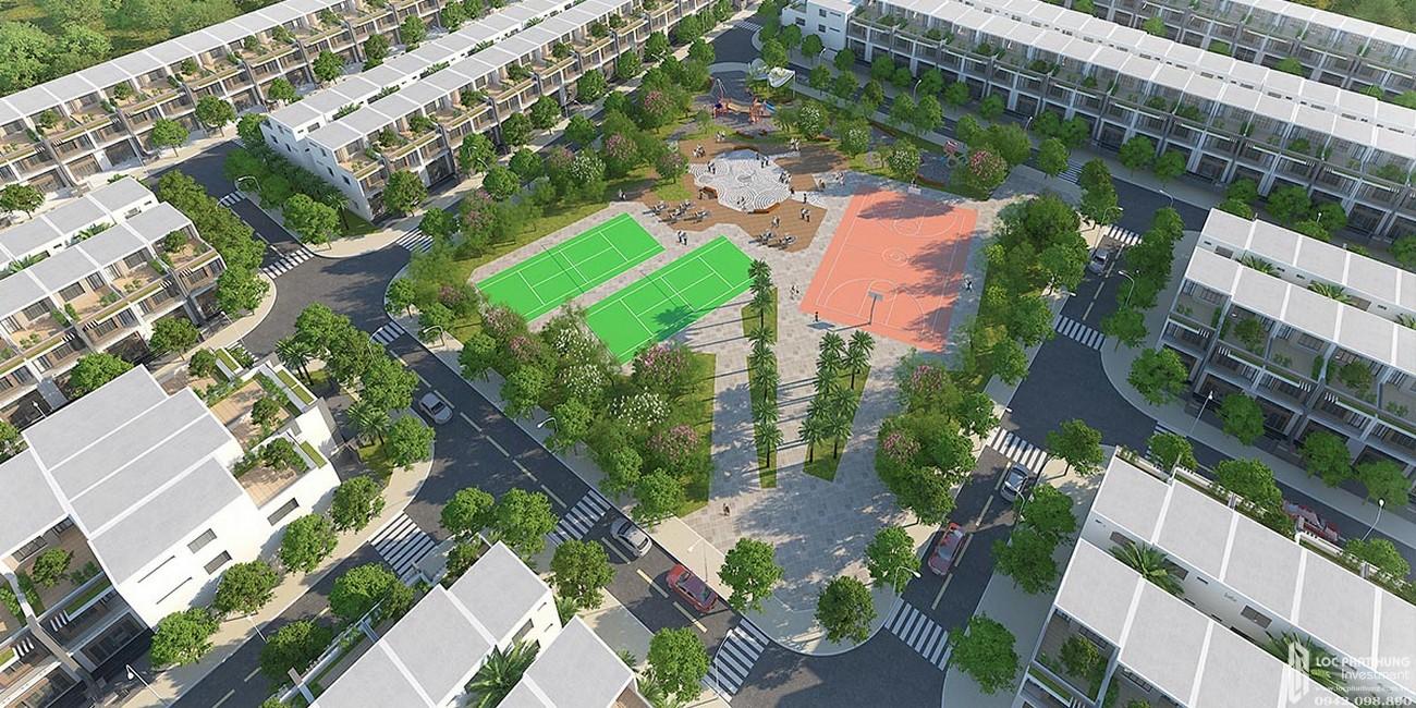 Khu thể dục thể thao dự án đất nền Saigon Riverpark Cần Giuộc Đường Quốc lộ 50 chủ đầu tư Tân Phú Thịnh