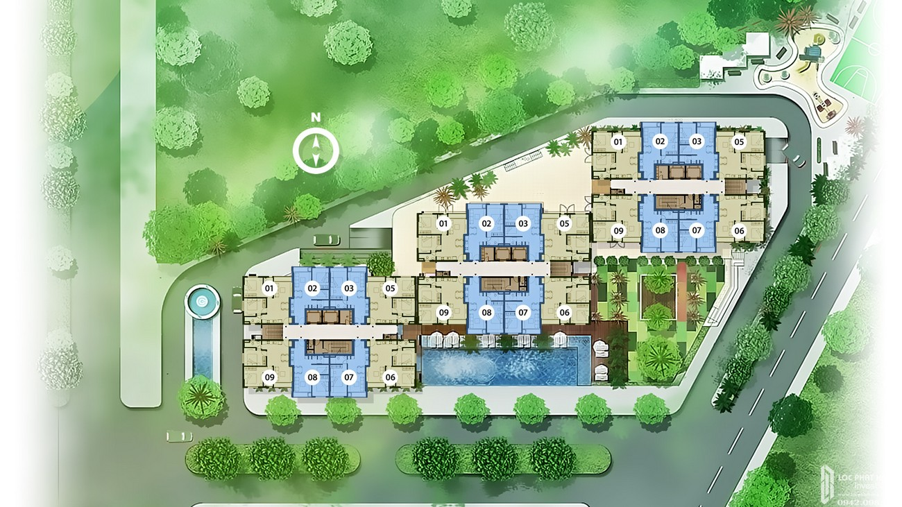 Mặt bằng tầng 6 - 21 dự án căn hộ chung cư An Gia Star Quận Bình Tân Đường Quốc Lộ 1A chủ đầu tư An Gia Investment