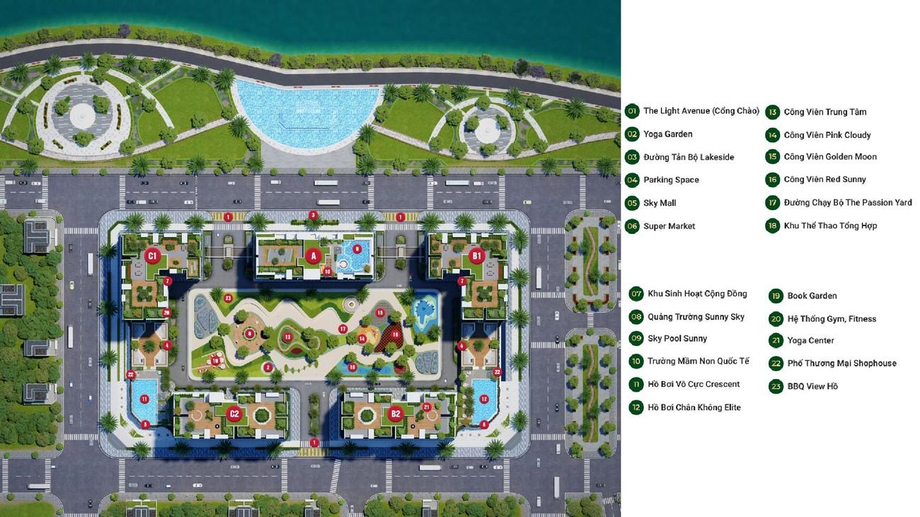 Mặt bằng tổng thể khu căn hộ chung cư LDG Sky TP Dĩ An Tỉnh Bình Dương CĐT LDG Group