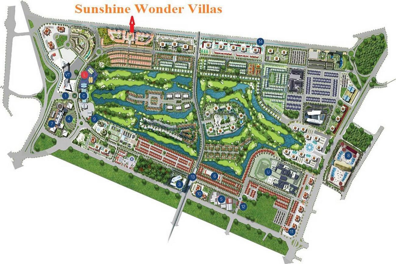 Mặt bằng dự án biệt thự Sunshine Wonder Villas Quận Tây Hồ KĐT Ciputra chủ đầu tư Sunshine Group