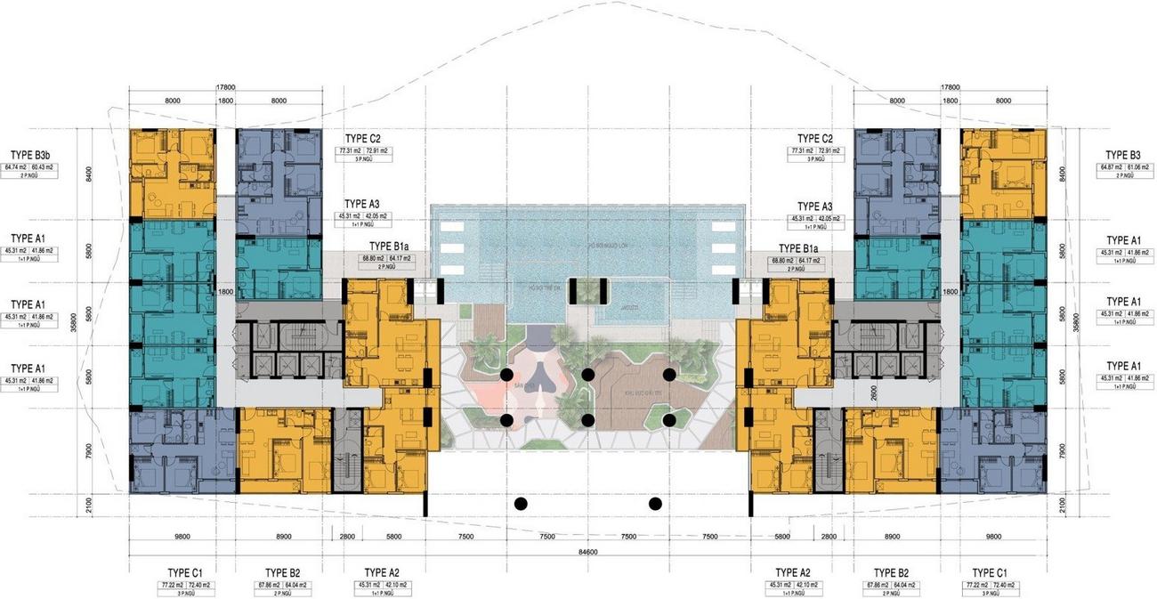 Mặt bằng dự án căn hộ chung cư C River View