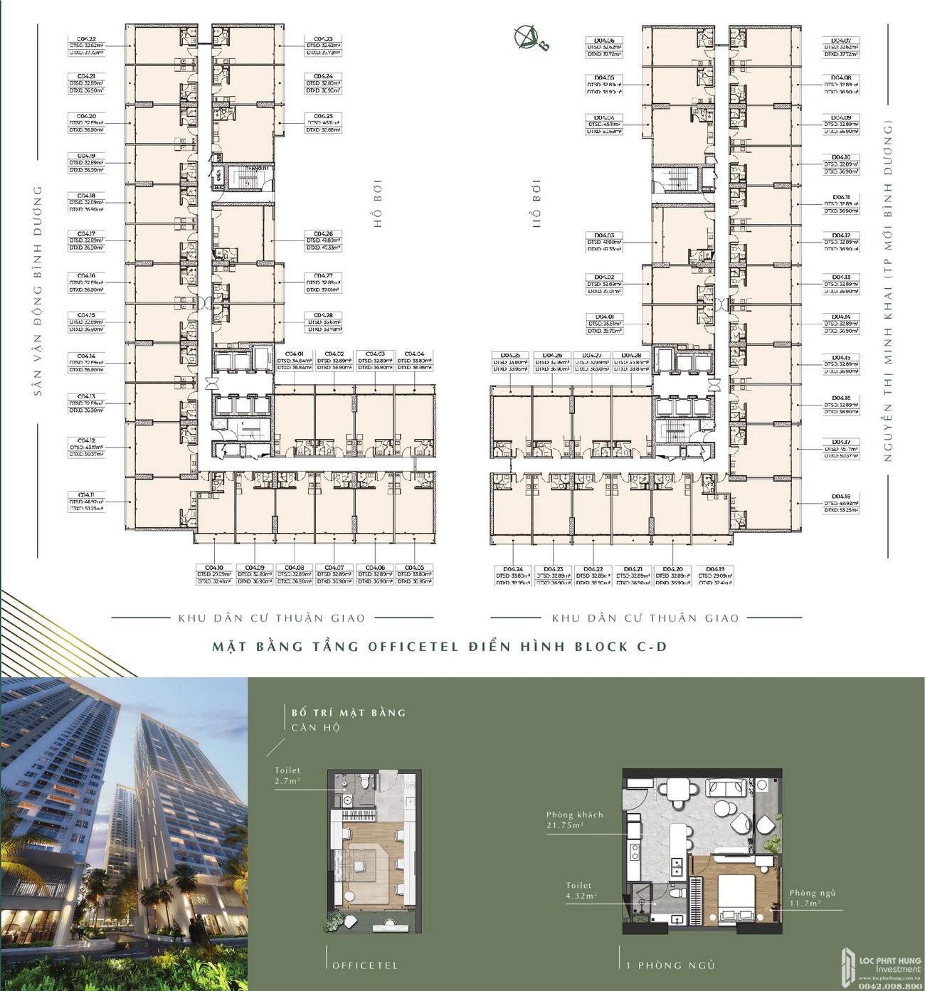 Mặt bằng dự án căn hộ chung cư Anderson Park Thuận An Đường Quốc lộ 13 chủ đầu tư Ngọc Điền (RubyLand)