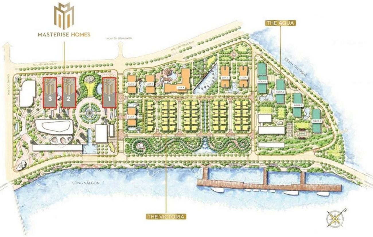 Mặt bằng dự án căn hộ chung cư Masteri Marina One Quận 1 chủ đầu tư Masterise Homes