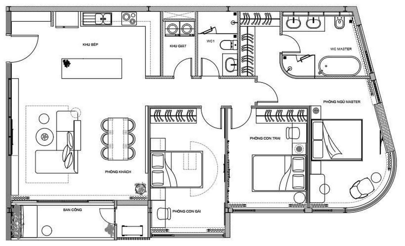 Mặt bằng dự án căn hộ chung cư Thảo Điền Green Towers Quận 2 chủ đầu tư SIC