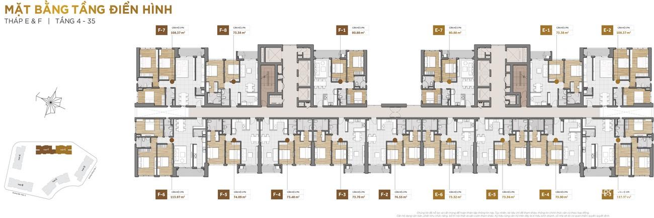 Mặt bằng dự án căn hộ chung cư The Palace Residence Quận 2 Đường Mai Chí Thọ chủ đầu tư Novaland