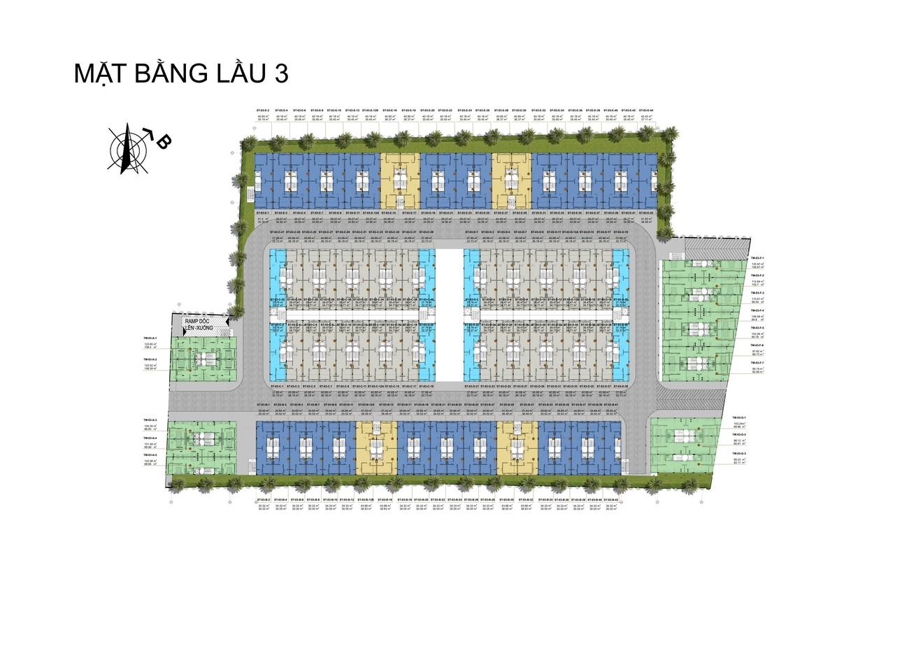 Mặt bằng dự án căn hộ shophouse  D One Saigon Gò Vấp chủ đầu tư DHA Corp