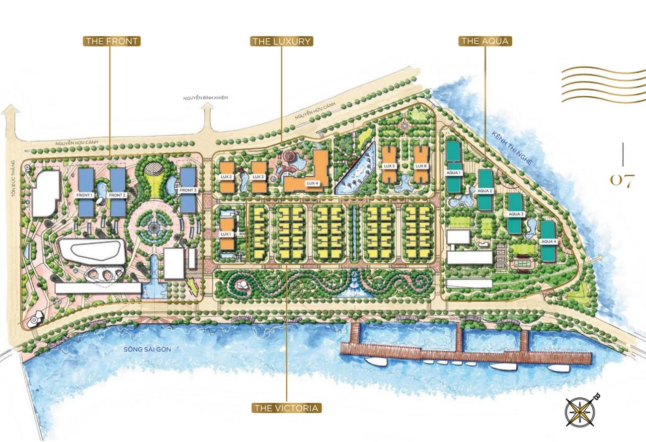 Mặt bằng dự án căn hộ Vinhomes Golden River Quận 1 Đường Nguyễn Hữu Cảnh chủ đầu tư Vingroup