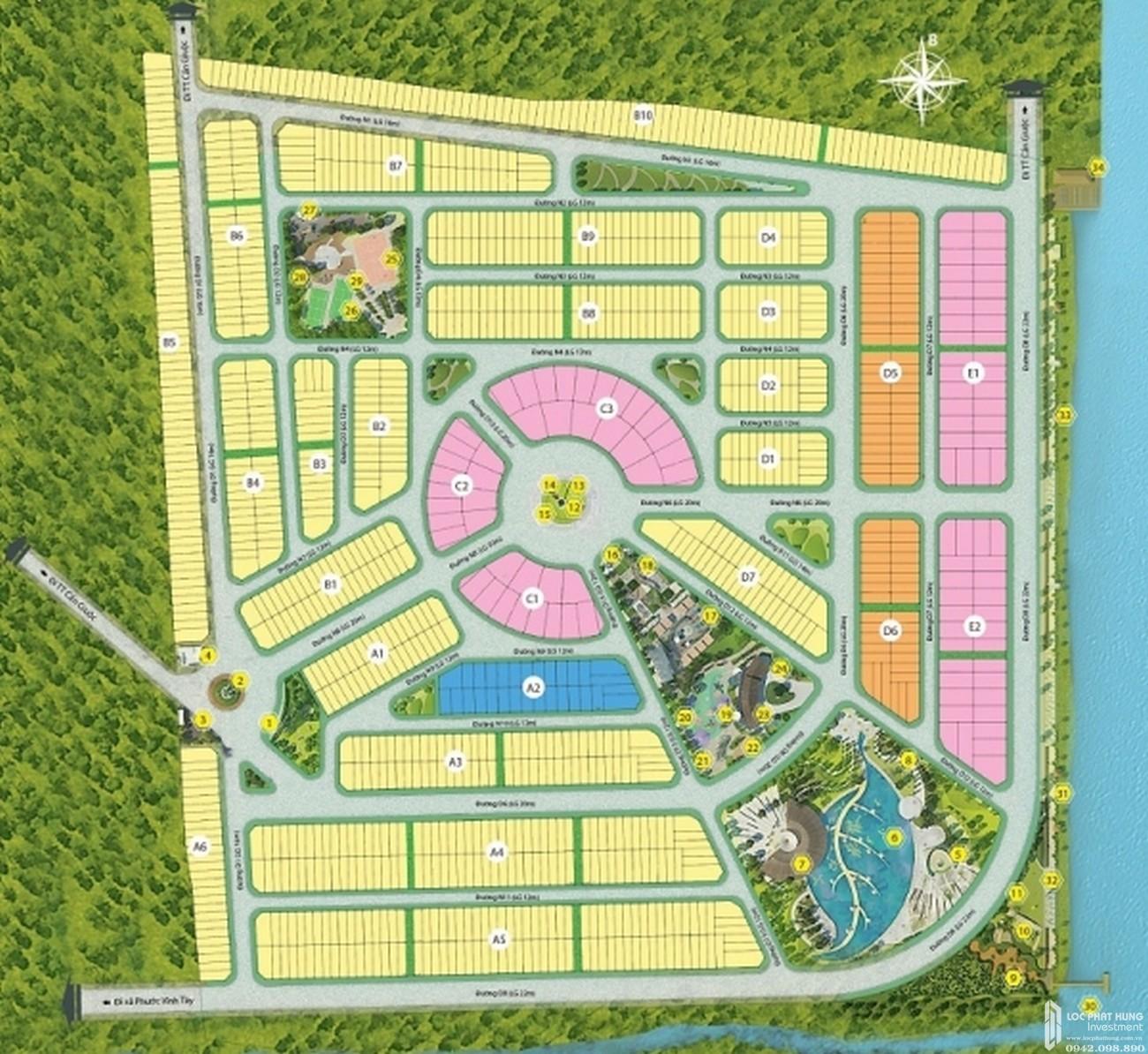 Mặt bằng dự án đất nền Saigon Riverpark Cần Giuộc Đường Quốc lộ 50 chủ đầu tư Tân Phú Thịnh