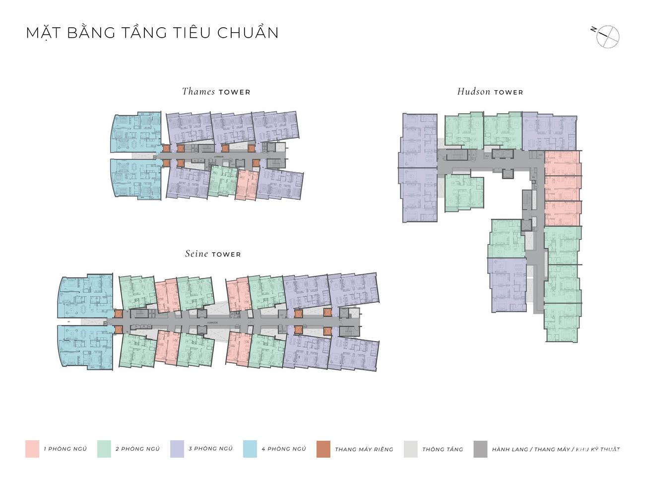 Mặt bằng dự án căn hộ The River Thủ Thiêm Quận 2 Đường Nguyễn Cơ Thạch chủ đầu tư Refico
