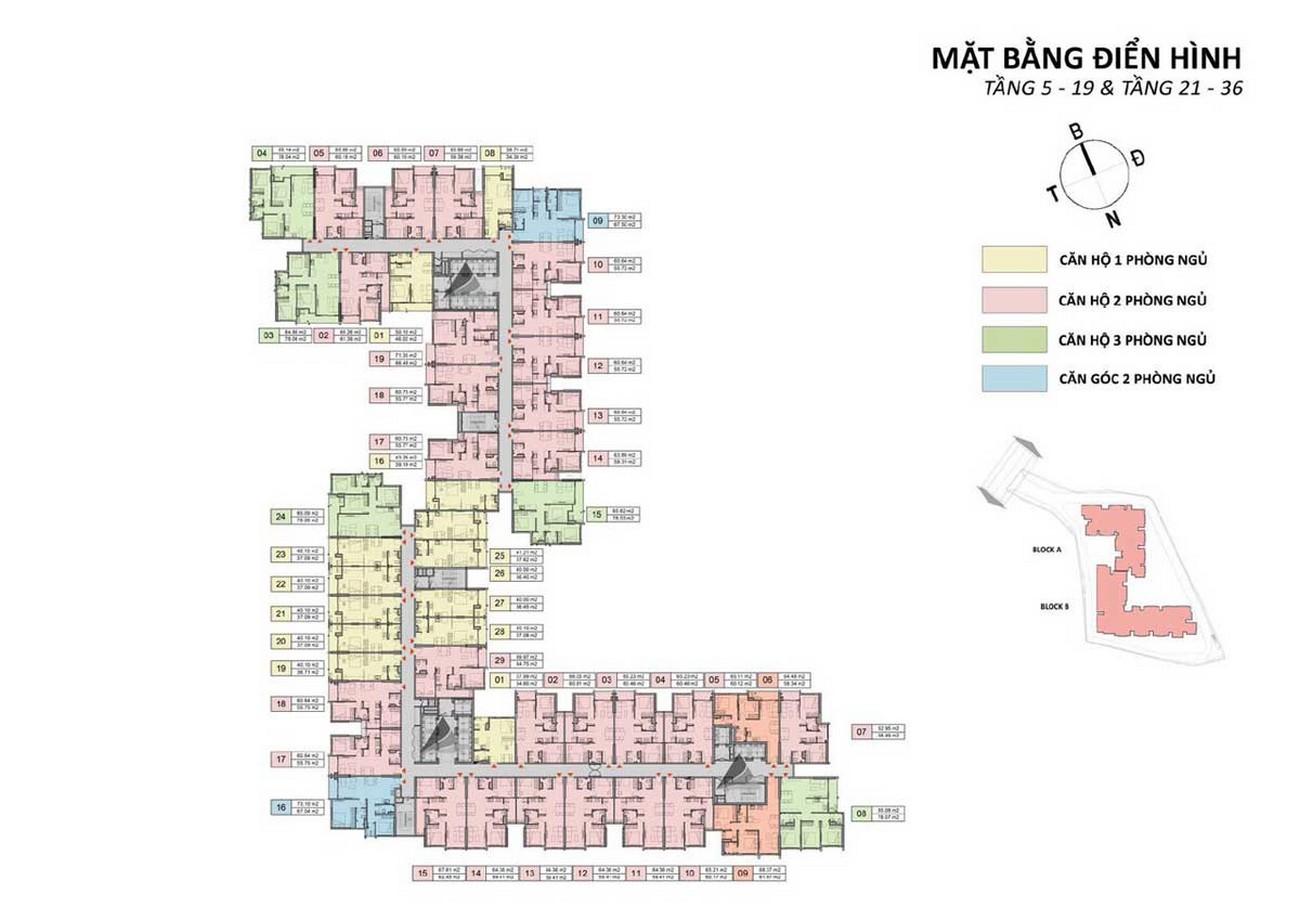 Mặt bằng tầng 5,19,21,36 dự án Căn Hộ chung cư Opal Skyline Thuận An Đường Quốc lộ 13 chủ đầu tư Đất Xanh Group