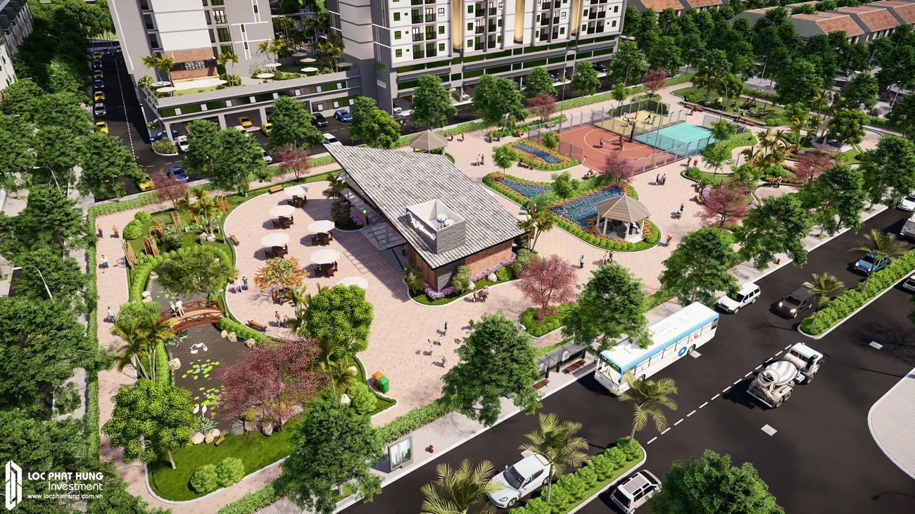 Công viên nội khu dự á căn hộ chung cư EcoXuan Lái Thiêu Bình Dương