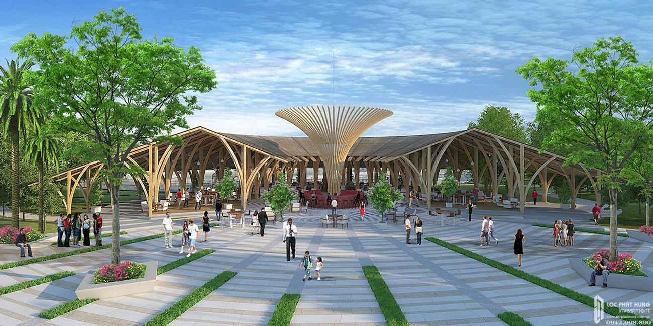 Nhà hàng thủy tạ dự án đất nền Saigon Riverpark Cần Giuộc Đường Quốc lộ 50 chủ đầu tư Tân Phú Thịnh