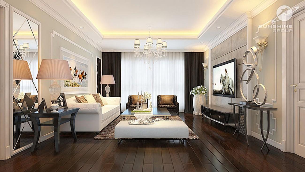 Nhà mẫu dự án căn hộ chung cư Sunshine Center Quận Nam Từ Liêm đường Phạm Hùng chủ đầu tư Sunshine Group