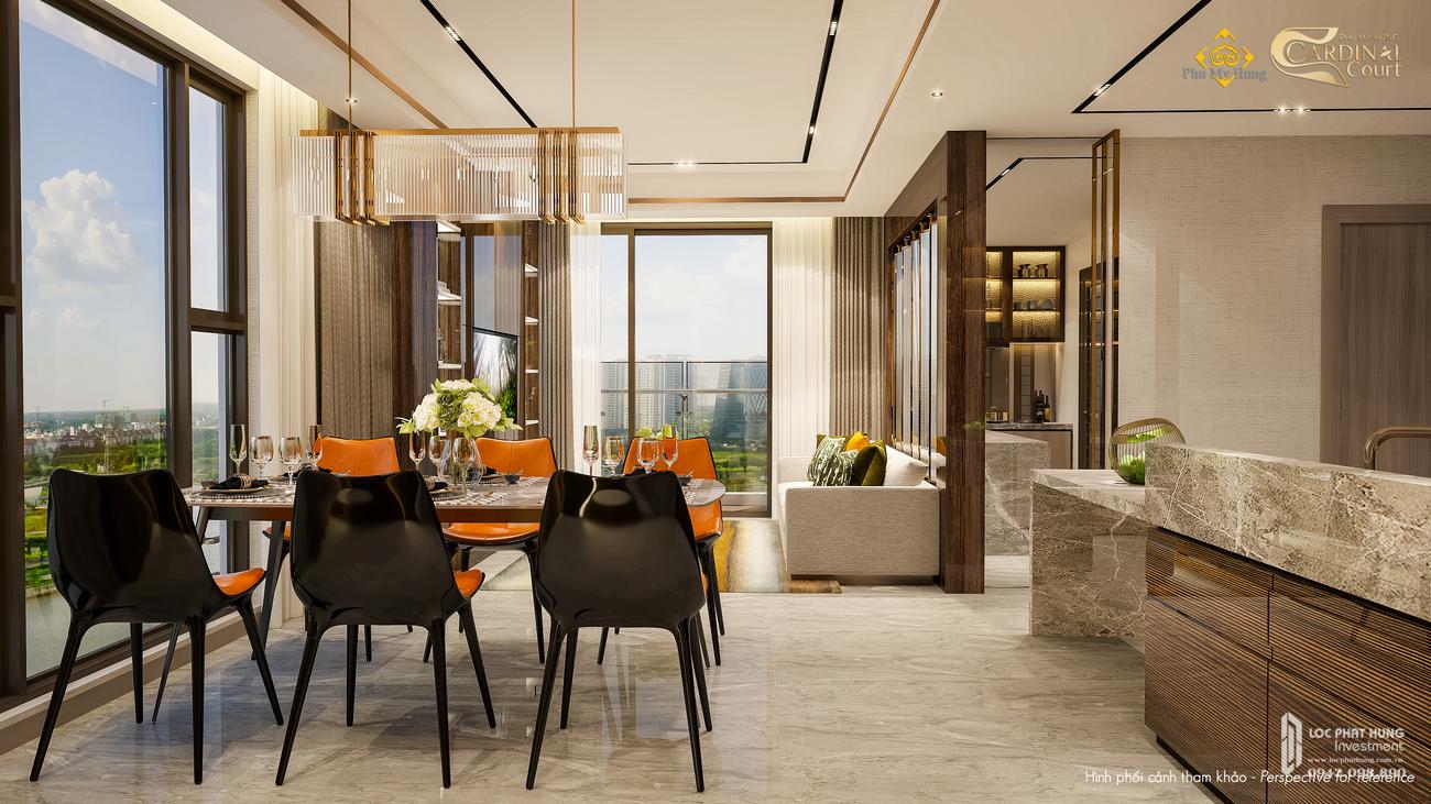 Nhà mẫu dự án căn hộ Cardinal Court Quận 7 Đường Raymondienne chủ đầu tư Phú Mỹ Hưng