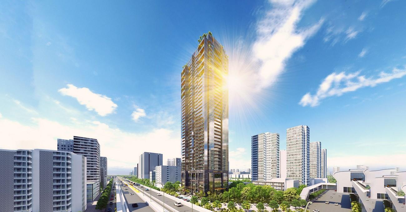 Phối cảnh tổng thể dự án căn hộ chung cư Sunshine Boulevard Quận Thanh Xuân Đường Khuất Duy Tiến chủ đầu tư Sunshine Group