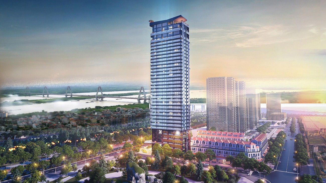 Phối cảnh tổng thể dự án căn hộ chung cư Sunshine Golden River Quận Tây Hồ KĐT Ciputra chủ đầu tư Sunshine Group