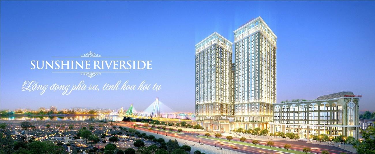 Phối cảnh tổng thể dự án căn hộ chung cư Sunshine Riverside Quận Tây Hồ KĐT Ciputra chủ đầu tư Sunshine Group