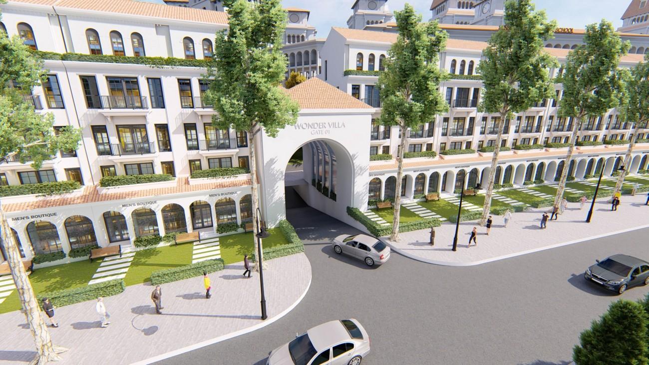 Phối cảnh tổng thể dự án biệt thự Sunshine Wonder Villas Quận Tây Hồ KĐT Ciputra chủ đầu tư Sunshine Group