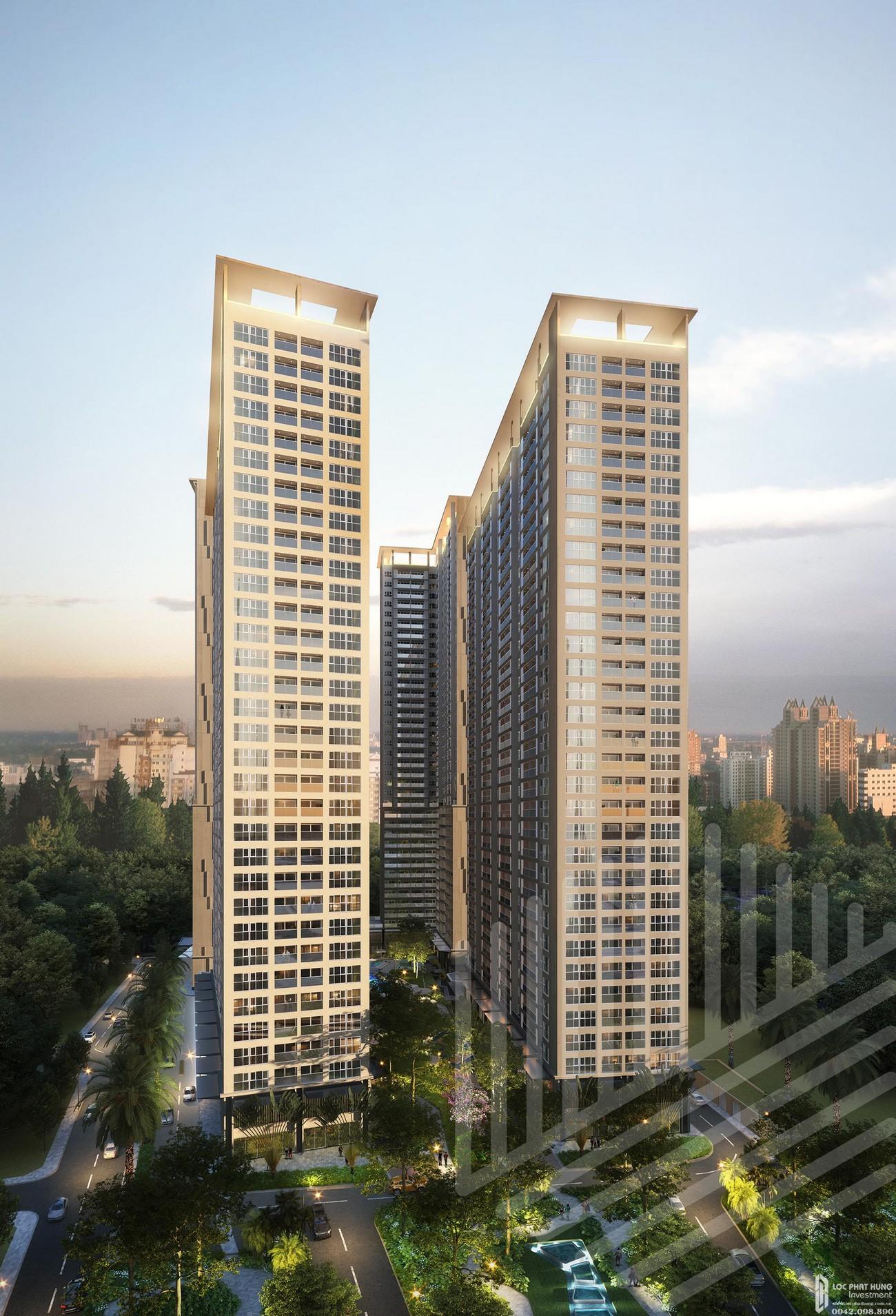 Phối cảnh tổng thể dự án căn hộ chung cư Lavita Thuận An Thuận An Đường Quốc lộ 13 chủ đầu tư Quốc Cường Gia Lai