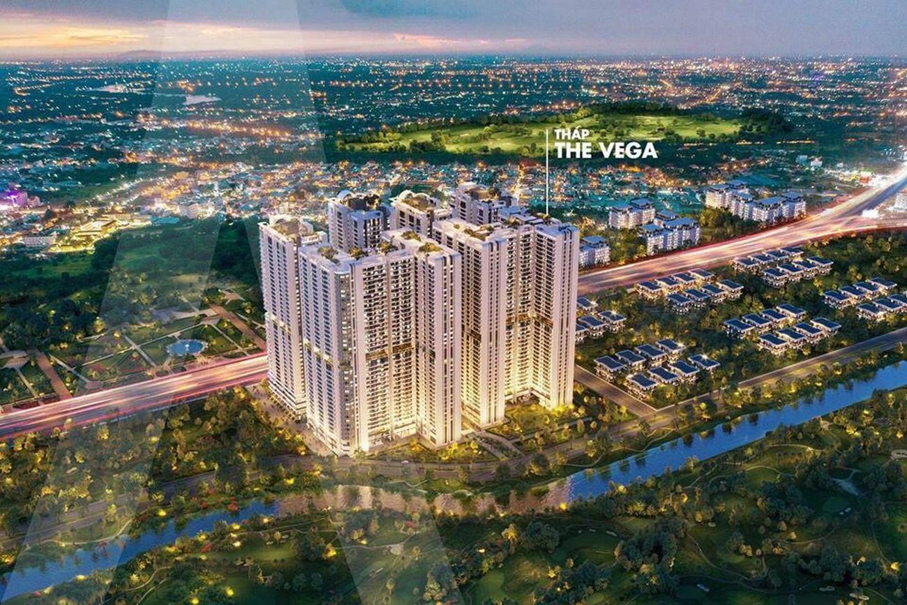 Phối cảnh và mặt bằng tầng điển hình tòa tháp The Vega Astral City