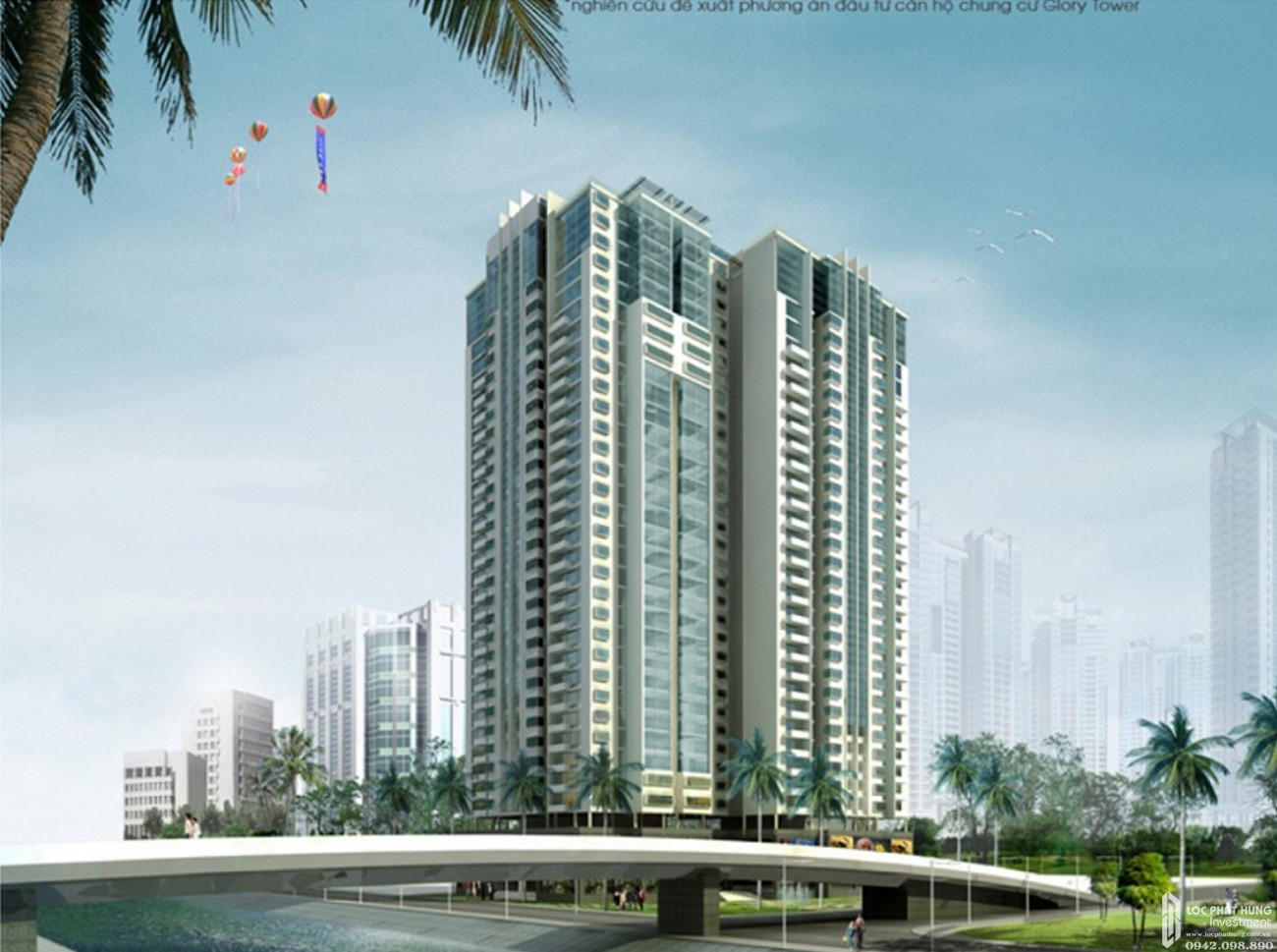 Phối cảnh tổng thể dự án căn hộ chung cư D Aqua Quận 8 chủ đầu tư DHA Corp