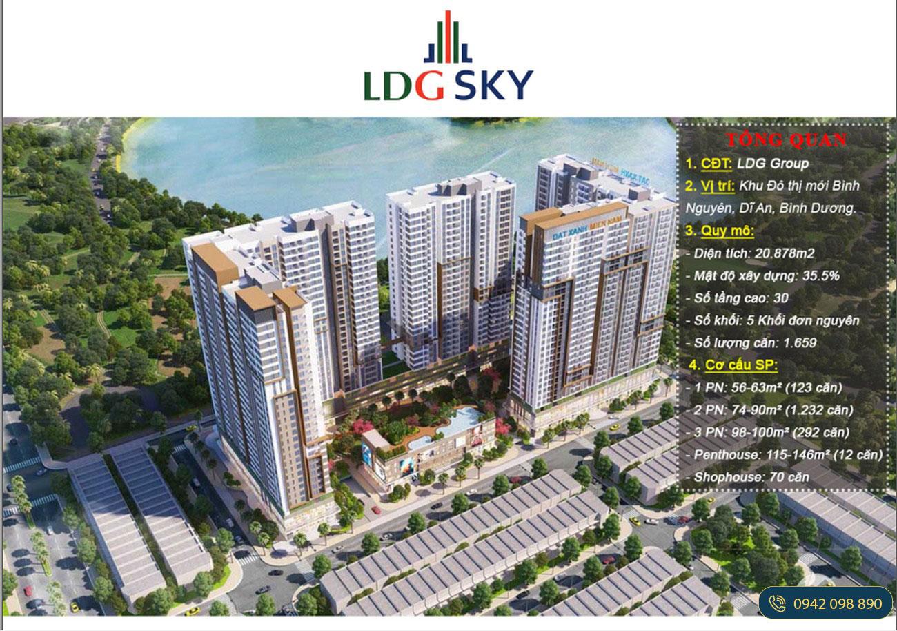 Quy mô dự án căn hộ chung cư LDG Sky Bình Dương chủ đầu tư LDG Group