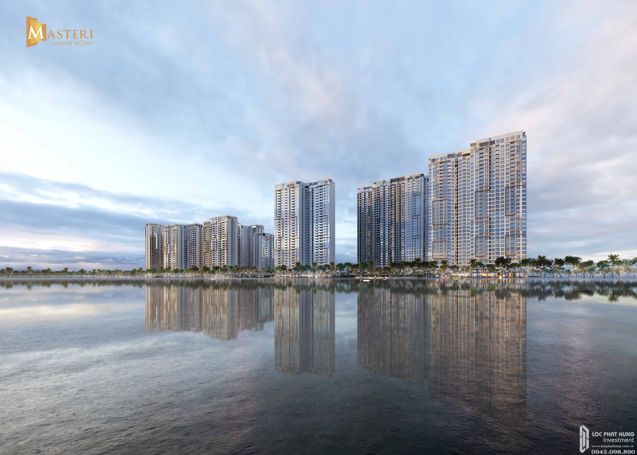 Tổng quan dự án Masteri Centre Point nhìn từ Biển Hồ