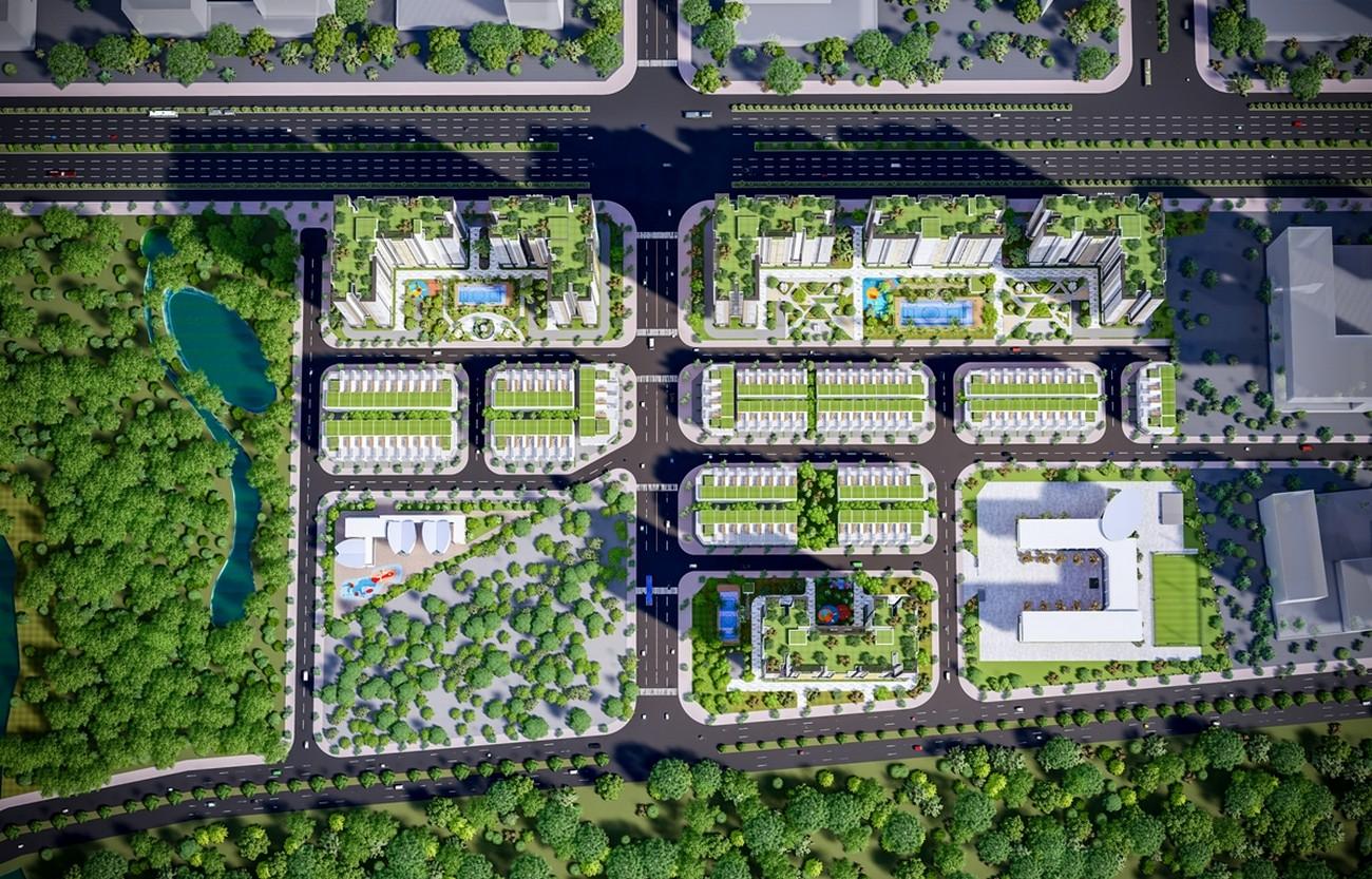 Phối cảnh tổng thể dự án căn hộ chung cư City Gate 5 Bình Chánh Đường Hưng Nhơn chủ đầu tư NBB