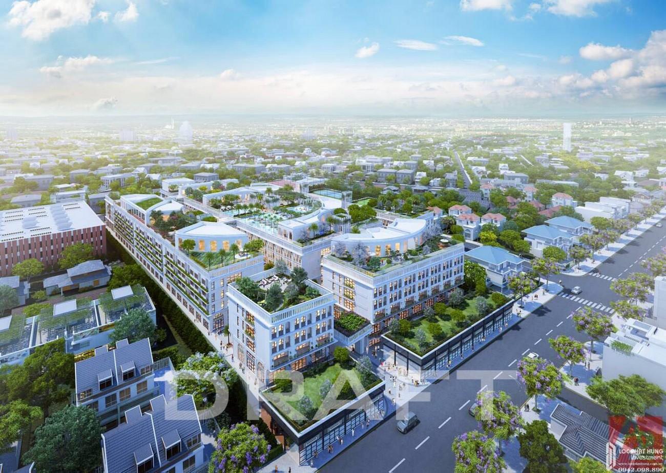 Phối cảnh tổng thể dự án căn hộ shophouse D One Saigon Gò Vấp chủ đầu tư DHA Corp