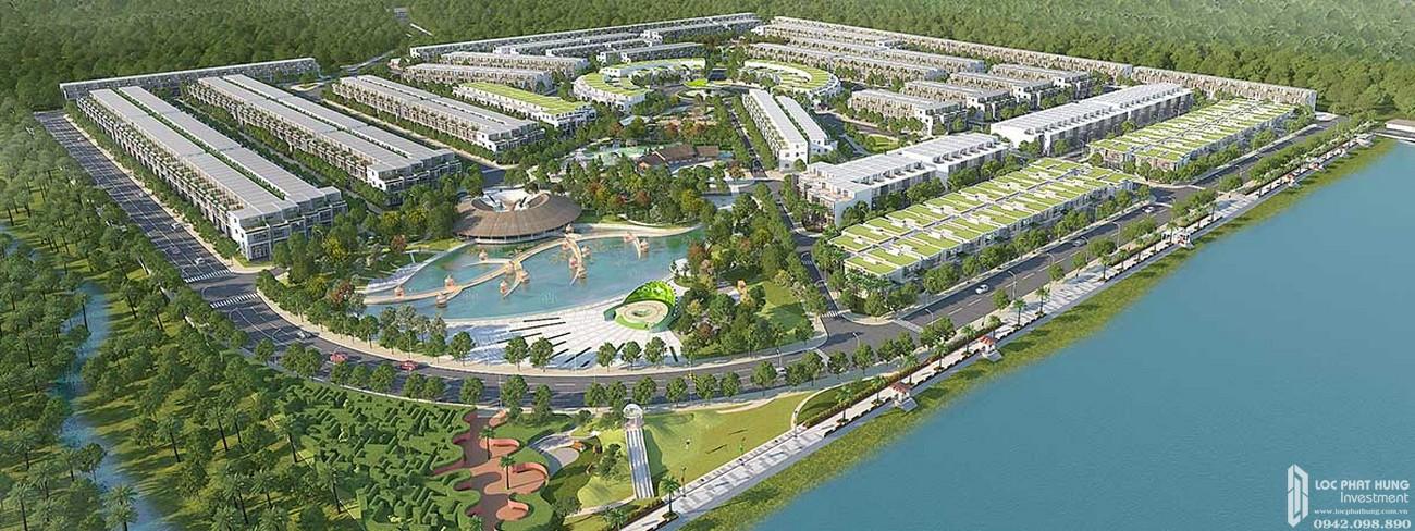 Phối cảnh tổng thể dự án đất nền Saigon Riverpark Cần Giuộc Đường Quốc lộ 50 chủ đầu tư Tân Phú Thịnh