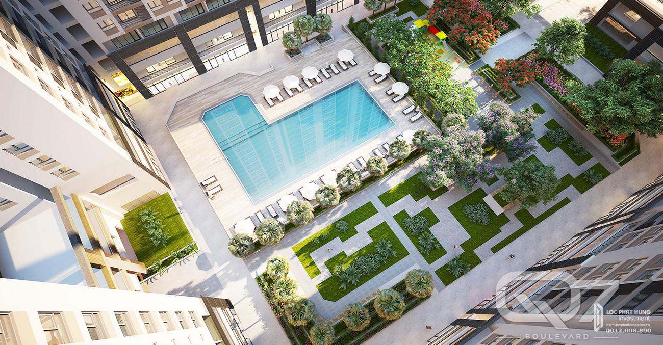 Phối cảnh dự án căn hộ Q7 Boulevard Quận 7 Đường Nguyễn Lương Bằng chủ đầu tư Hưng Thịnh