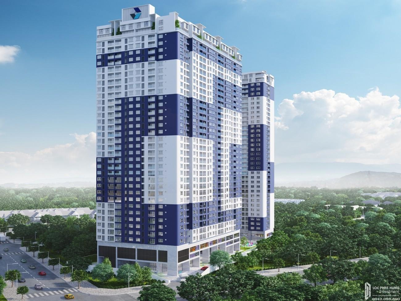 Phối cảnh tổng thể dự án căn hộ chung cư C Skyview Bình Dương Đường Trần Phú chủ đầu tư Quốc Cường Chánh Nghĩa