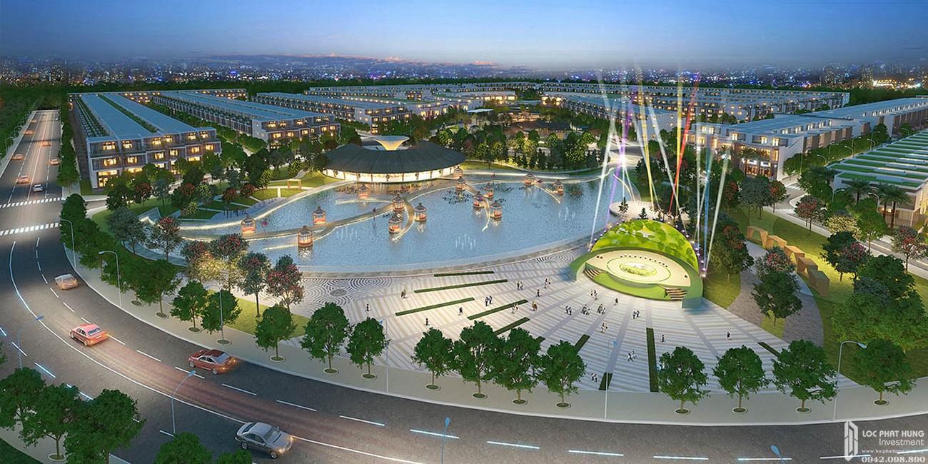 Quảng trường sự kiện dự án đất nền Saigon Riverpark Cần Giuộc Đường Quốc lộ 50 chủ đầu tư Tân Phú Thịnh