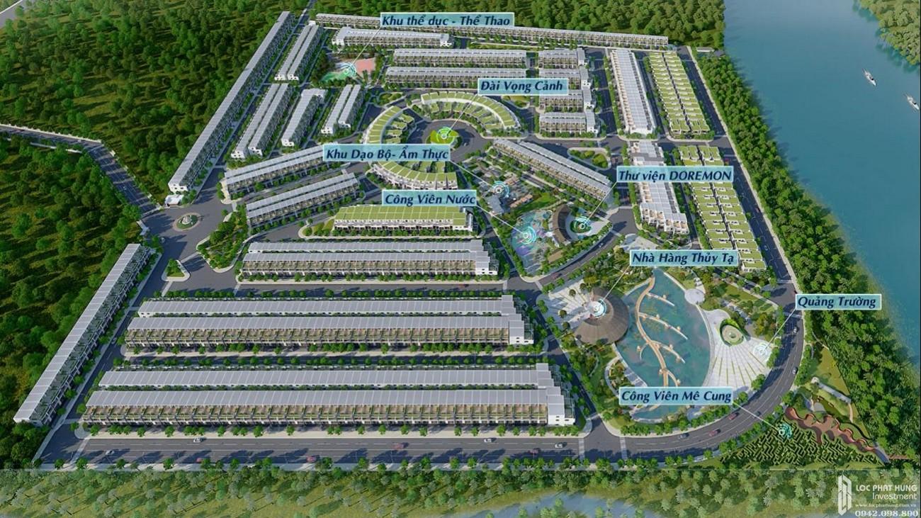 Sơ đồ tiện ích dự án đất nền Saigon Riverpark Cần Giuộc Đường Quốc lộ 50 chủ đầu tư Tân Phú Thịnh