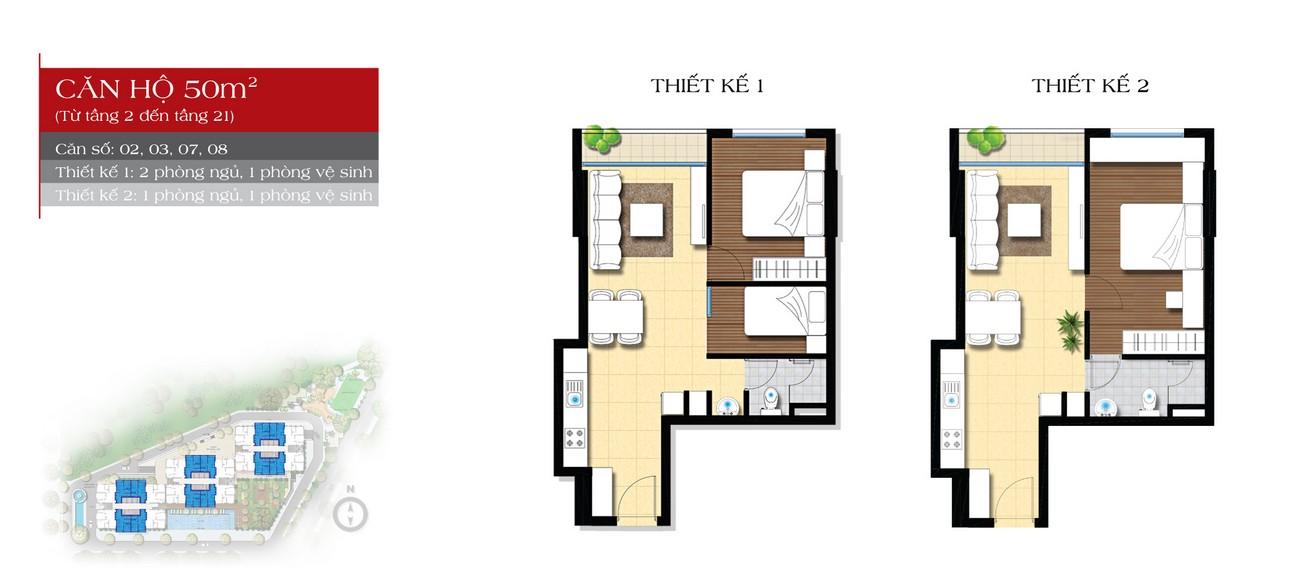 Thiết kế căn 50m2 dự án căn hộ chung cư An Gia Star Quận Bình Tân Đường Quốc Lộ 1A chủ đầu tư An Gia Investment