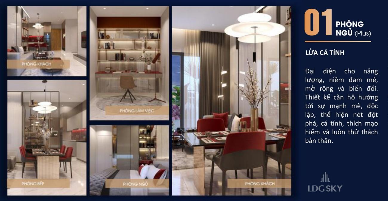 Thiết kế căn hộ mẫu dự án chung cư LDG Sky TP Dĩ An, Tỉnh Bình Dương