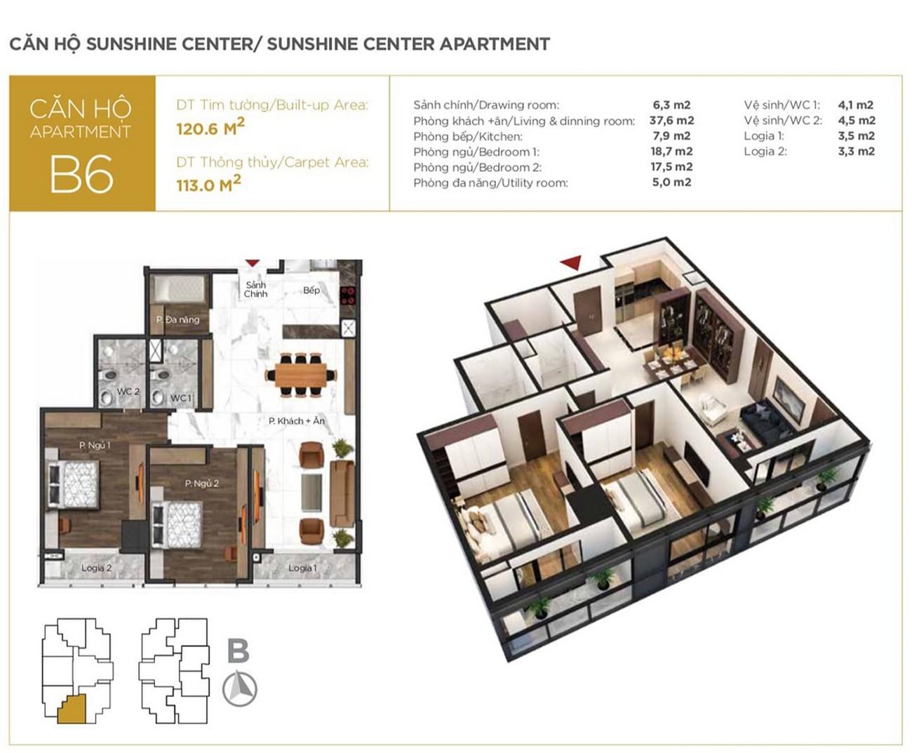 Thiết kế dự án căn hộ chung cư Sunshine Center Quận Nam Từ Liêm đường Phạm Hùng chủ đầu tư Sunshine Group