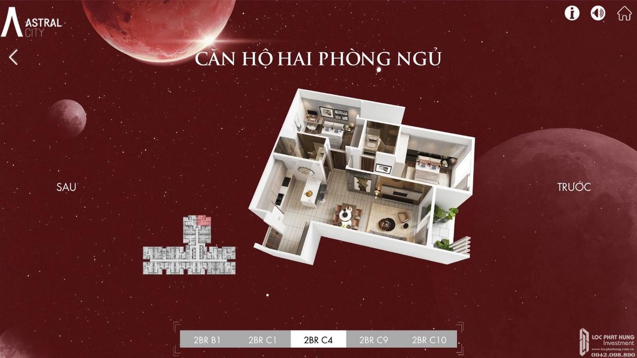 Mặt bằng chi tiết căn hộ Astral City Thuận An Đường Quốc lộ 13 chủ đầu tư Phát Đạt Group