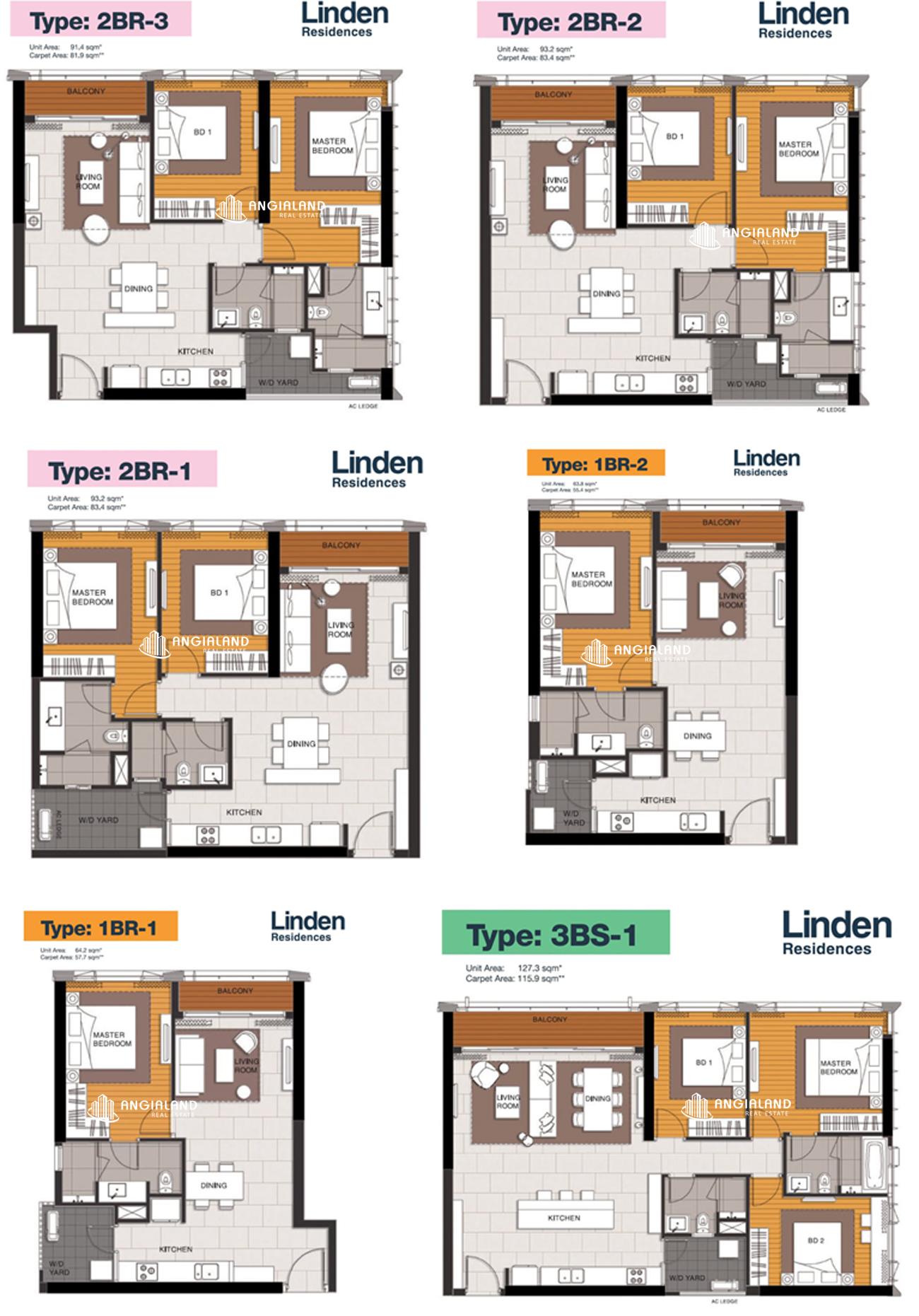 Thiết kế chi tiết căn hộ Linden Residences Empire City Thủ Thiêm Quận 2