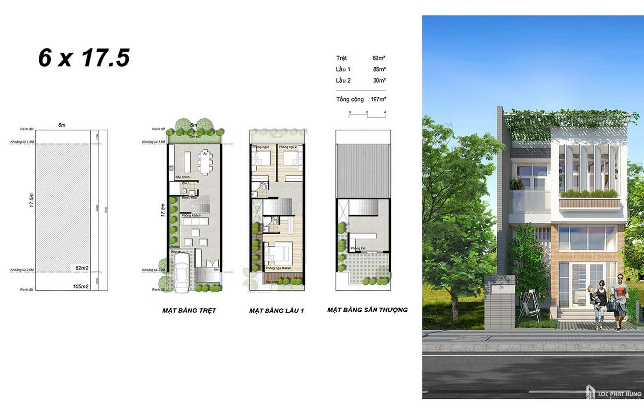 Thiết kế đất nền nhà phố Saigon Riverpark Cần Giuộc Đường Quốc lộ 50 chủ đầu tư Tân Phú Thịnh