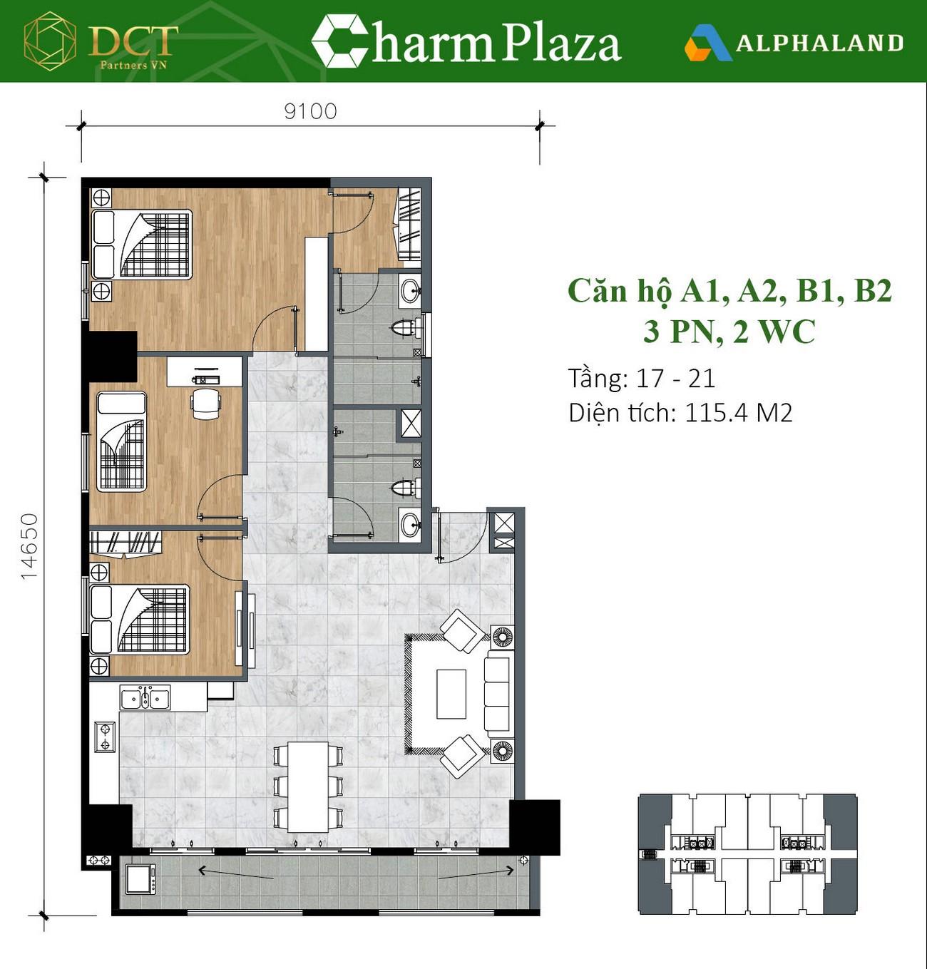 Thiết kế dự án căn hộ chung cư Charm Plaza Dĩ An Đường ĐT743B chủ đầu tư DCT GROUP