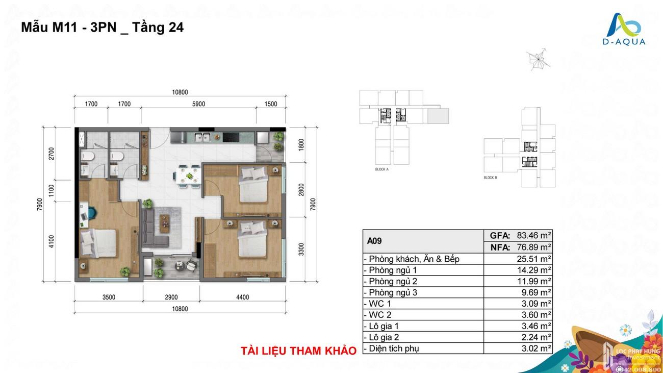 Thiết kế dự án căn hộ chung cư D Aqua Quận 8 chủ đầu tư DHA Corp