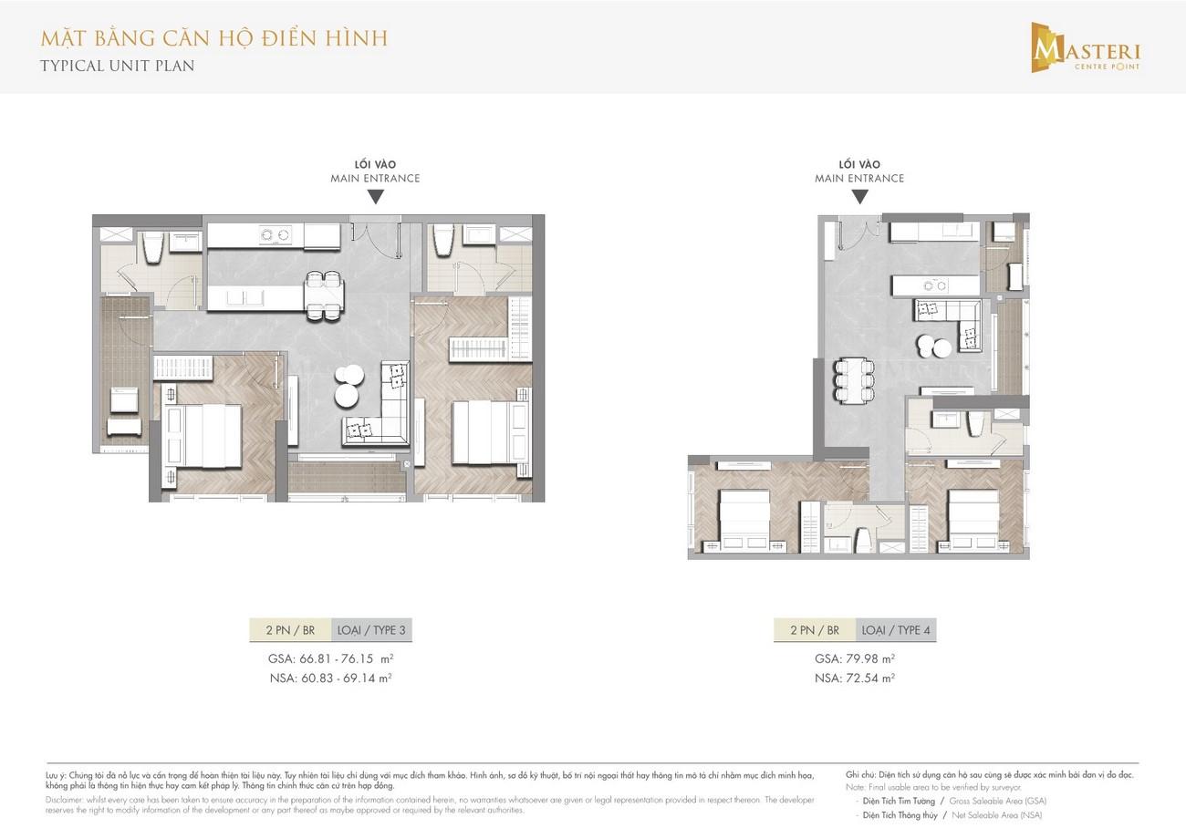 Thiết kế dự án căn hộ chung cư  Masteri Centre Point Quận 9 Đường Nguyễn Xiển chủ đầu tư Masterise Homes